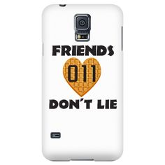 Friends Don't Lie Stranger Heart Shaped Waffle Eleven Samsung Galaxy Smart Phone Case for Women Men Kids