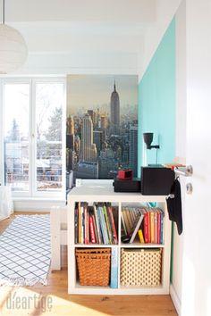 dieartigeblog kinderzimmer upgrade jugend jungen zimmer in mint hellgrau wei mit new york. Black Bedroom Furniture Sets. Home Design Ideas