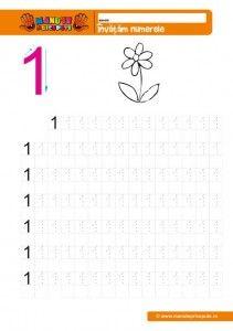 cifra 1 - 005 Kindergarten Math Games, Maths, Coloring Books, Worksheets, Teaching, Writing, Education, Numbers Preschool, Activities