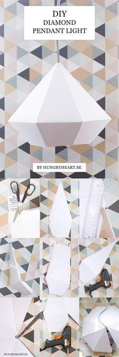 Origami Geometric Diy Lamp Shades 52 Ideas For 2019 Origami Diy, Origami Lampshade, Heart Origami, Origami Templates, Box Templates, Oragami, Origami Paper, Diy Framed Art, Diy Wall Art