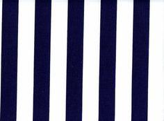 1 Inch Stripes Cotton Navy