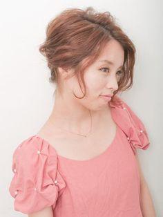 自分でできる髪型 ショートヘア夜会巻きアップスタイル1-1
