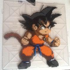 Goku Dragon Ball perler beads by rightbumper