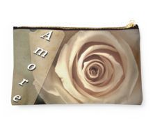 Studio Pouch Amore is a Delicate Rose with a sweet message. Just lovely for a special gift.