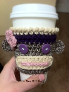 Ravelry: Sock Monkey Cup Cozy pattern by Jonna Ventura