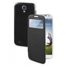 Funda Galaxy Muvit - negra con ventana S/. Smartphone, Fundas Samsung Galaxy S4, Car Holder, Tempered Glass Screen Protector, Accessories, Bags, Black, Jewelry Accessories