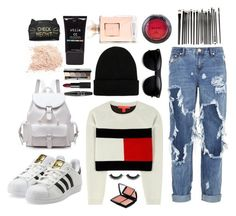 """""""The sunrise"""" by foreverfashionfever101 ❤ liked on Polyvore featuring Tommy Hilfiger, One Teaspoon, adidas Originals, NLY Accessories, NARS Cosmetics, NYX, Bobbi Brown Cosmetics, Stila and Lancôme"""