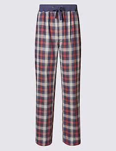 Pure Cotton Checked Pyjama Bottoms 4bf54fbc7a0