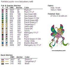 Legenda colori Dmc e Anchor