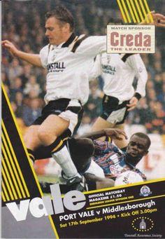Port Vale vs Middlesbrough 1994