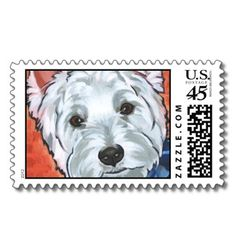 Scooter the Westie Postage Stamp by PetProjects