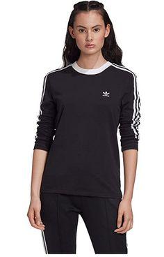 Striped Long Sleeve Shirt, Striped Tee, Long Sleeve Tops, Long Sleeve Shirts, Black Tees, Tenis Adidas Running, Dna, Adidas Canada, Bands