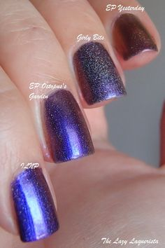 The Lazy Laquerista: Battle Of The Purple Multichromes Part II - The Holo Multichromes!