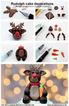 Make your cupcakes extra special this Christmas with these cute Rudolf cake toppers! Christmas Cupcakes