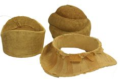 """Esparterie or """"Willow"""" used with esparterie lacquer to make lightweight hat blocks.  Traditionally used as a """"trial"""" hat block before ordering a custom block from  the block carver."""