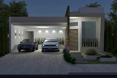 Garage Display Design Solutions for Small Homes House Outer Design, House Front Design, Modern House Design, One Storey House, Building A Garage, Small Modern Home, Bungalow House Design, Level Homes, Exterior House Colors