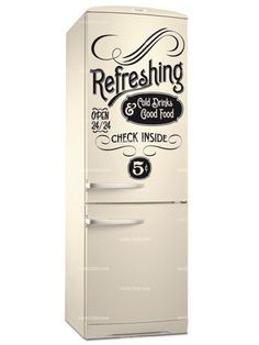 Stickers frigo old refreshing