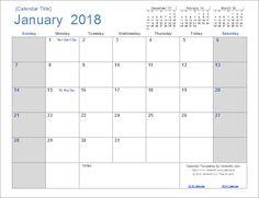 Download the 2018 Calendar (Light) from Vertex42.com