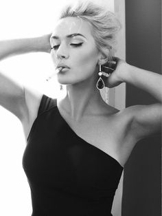Alexi Lubomirski photographs Kate Winslet for the cover of Harper's Bazaar UK, Apr 2013