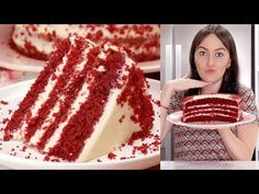 Cook'n Enjoy | Bolo Red Velvet Bolo Red Velvet Receita, Coffee And Walnut Cake, Cook N, Pasta, Tiramisu, Delicious Desserts, Cake Recipes, Cake Decorating, Food And Drink