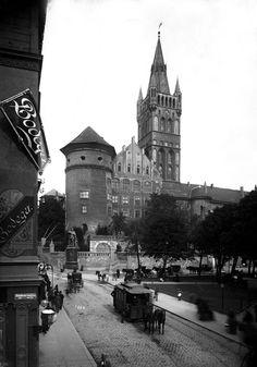 Königsberg Pr. Das königliche Schloß mit Kaiser Wilhelm Platz