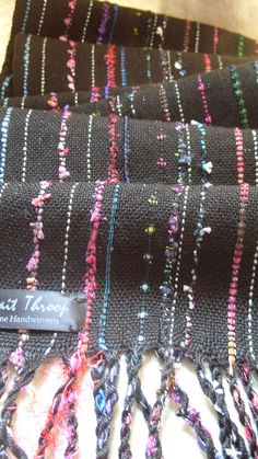 Handwoven Scarf Celebration Woven Wrap Shawl by barefootweaver, $84.00