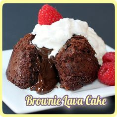 Microwave Brownie Lava Cakes -- gooey chocolate decadence, as easy as it gets! This fantastic dessert only takes 1 minute in the microwave. Seriously.