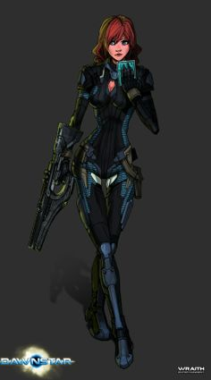 sci fi futuristic girl | Future Girl, Futuristic Look, Girl Warrior, Girl with Gun, Sci-Fi Girl ...