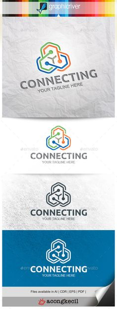 Connecting Logo Template #design #logotype Download: http://graphicriver.net/item/connecting-v5-/11442200?ref=ksioks