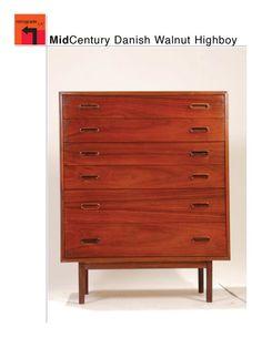 Dresser, Holland Furniture Company. Mid Century Danish Modern Walnut  Dresser Highboy By RetrogradeLA, $1485.00
