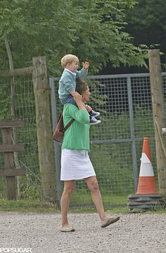 Prince George at Berkshire Petting Zoo With Carole Middleton | POPSUGAR Celebrity
