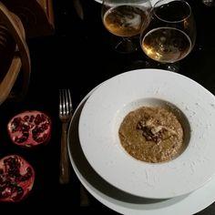 # vellutata di #porcini e #lenticchie (#dieta) su letto di #mielealtartufo e #semidisesamo  #orgesmasterchef