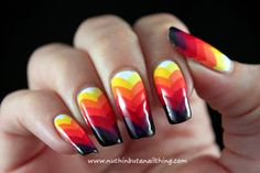 Rainbow Fishtail Manicure - nuthin but a nail thing