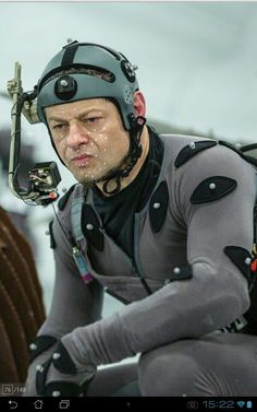 Dawn of the Planet of the Apes. Andy Serkis in performance capture suit as Caesar.