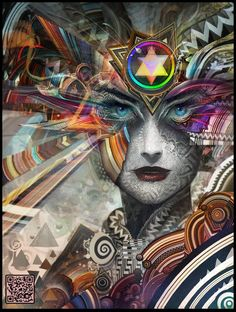 by Android Jones I love the cosmic channel of the fusion of nature and technology.