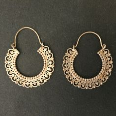 Gold Plated Silver Indian handmade Hoop Earrings by Jaipurmahal on Etsy https://www.etsy.com/listing/218308649/gold-plated-silver-indian-handmade-hoop