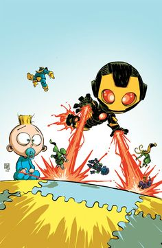 Skottie Young's Marvel NOW! Baby Variant Covers