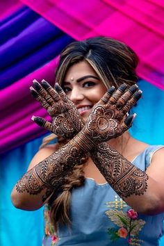 New and unique mehndi designs for the new age brides Latest Bridal Mehndi Designs, Wedding Mehndi Designs, Mehndi Design Images, Henna Designs, Indian Wedding Poses, Indian Wedding Couple Photography, Mehendi Photography, Bride Photography, Portrait Photography