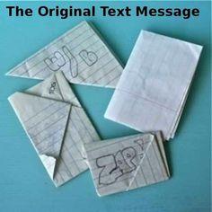 Los mensajes de texto de antaño :-)