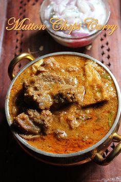 YUMMY TUMMY: Mutton Chops Curry Recipe / Lamb Curry Recipe