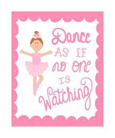 Dance Recital Gift Ballet Quote Art 8x10 pink by SweetestPie, $15.00