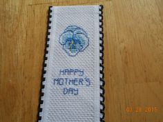 cross stitch Mother's Day bookmark available in my ebay store - Cards and Designs byDeb