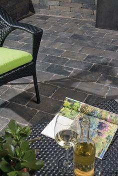 Trommelkassei 20x30x5 grijs/antraciet - Aanbiedingen - Bestrating.nl