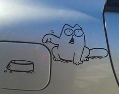 Cat car vinyl decal sticker
