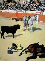 Toros - Ramon Casas i Carbo (Catalan painter, Spanish Painters, Spanish Artists, Ramones, Picasso Art, Pablo Picasso, Barcelona Street, Man Vs, Sculpture Art, Sculptures