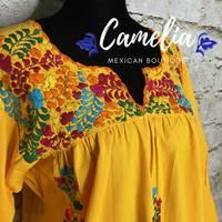 San Antonio Mexican Blouse - 3/4 Sleeve – Camelia Mexican Boutique Mexican Top, Mexican Blouse, Mexican Dresses, Muslin Fabric, Cotton Thread, San Antonio, Color Patterns, Favorite Color, V Neck