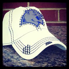 Flower Mound Jags Distressed Baseball Style Hat by iheartmoes, $40.00