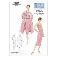 Vogue Patterns Sewing Pattern Misses' Dress, Belt and Coat Vogue Patterns, Mccalls Patterns, Vintage Sewing Patterns, Coat Pattern Sewing, Gown Pattern, Coat Patterns, Vintage Models, Vintage Vogue, Vintage Fashion