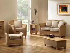 Pictured in Natural Weave with the Aintree Footstool*, Coffee* & Side Table* (*Optional Extra)