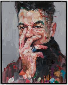 The Magician, a Oil on Canvas by Andrew Salgado from United Kingdom. It portrays: People, relevant to: painting, Variations On A Theme, andrew salgado, The Magician, box frame Oil on canvas with mixed media and spray